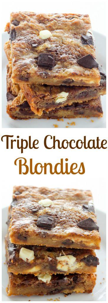 Triple Chocolate Blondies