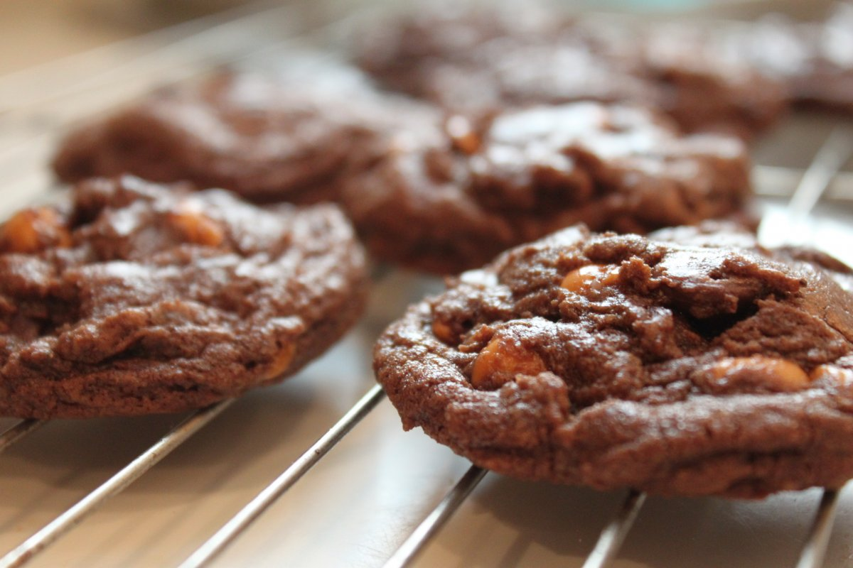 Double Chocolate Chip Butterscotch Cookies - Baker by Nature