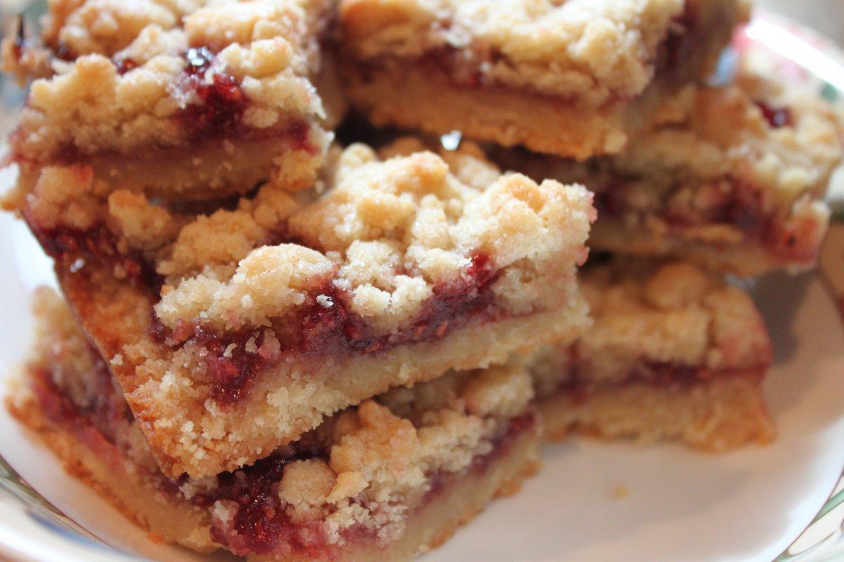 Raspberry Crumb Bars - Baker by Nature