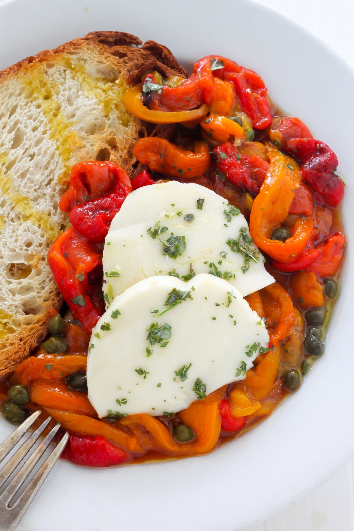... with roasted potatoes roasted peppers with nectarines most of the time