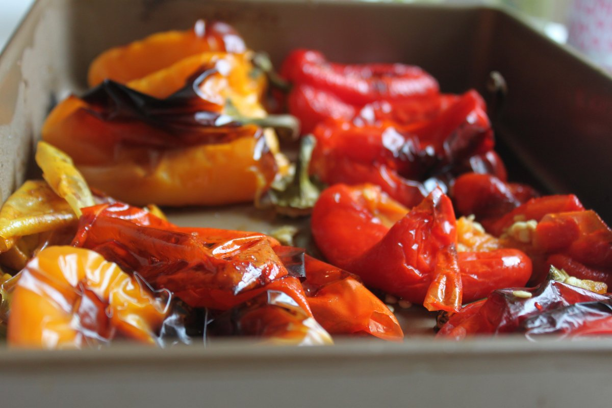 Marinated Roasted Bell Peppers | THE LIFE CORE