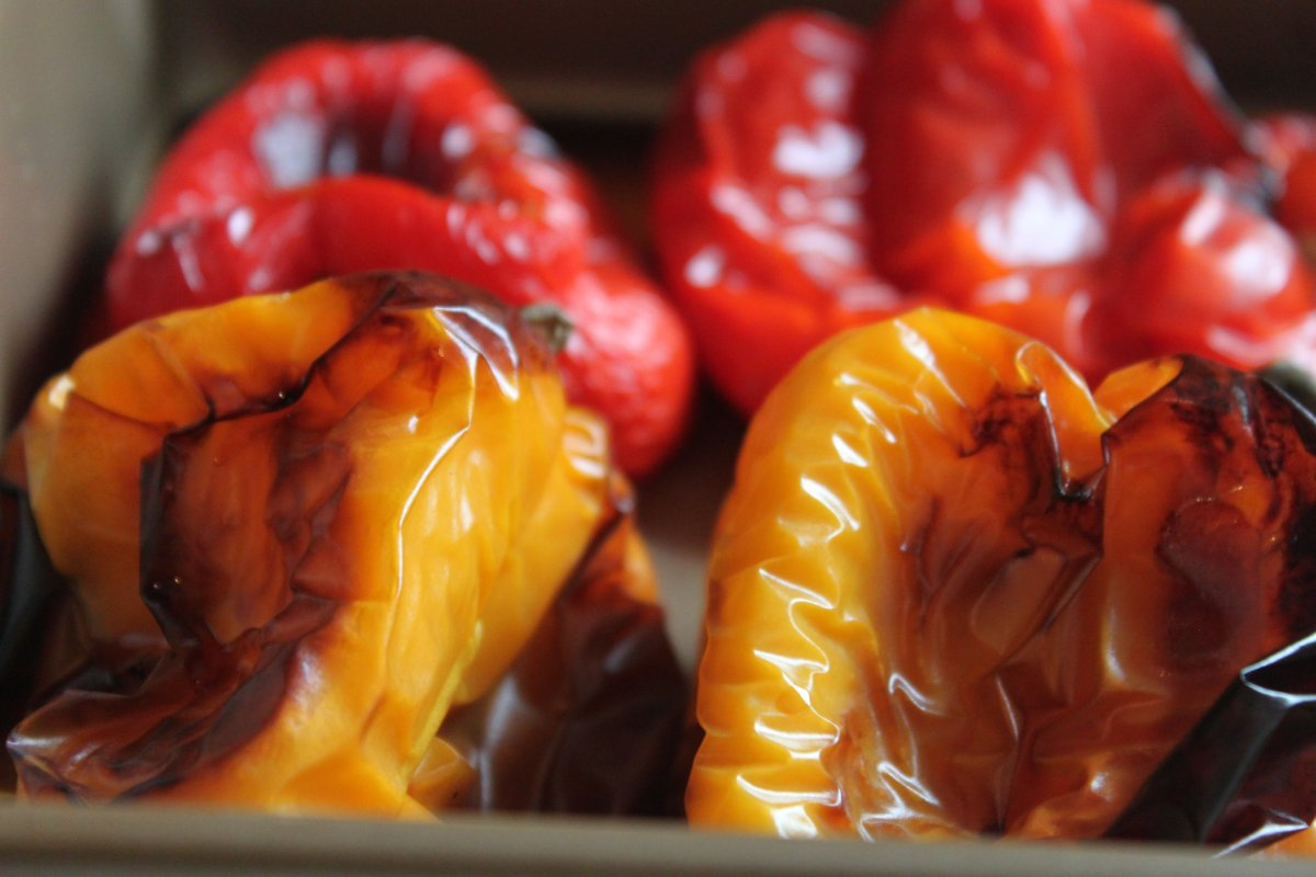 Roasted Peppers with Capers and Mozzarella | Baker by Nature