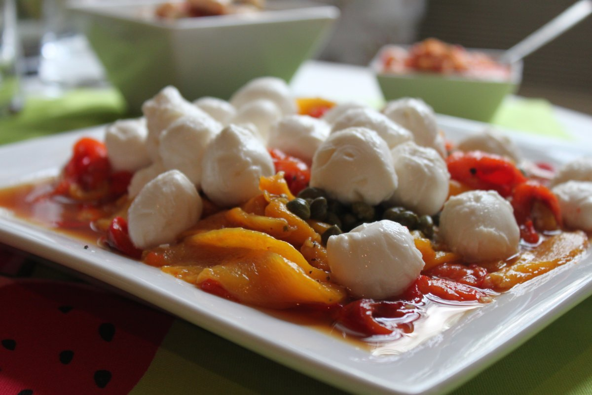 Marinated Roasted Peppers with Capers and Mozzarella - Smitten Kitchen