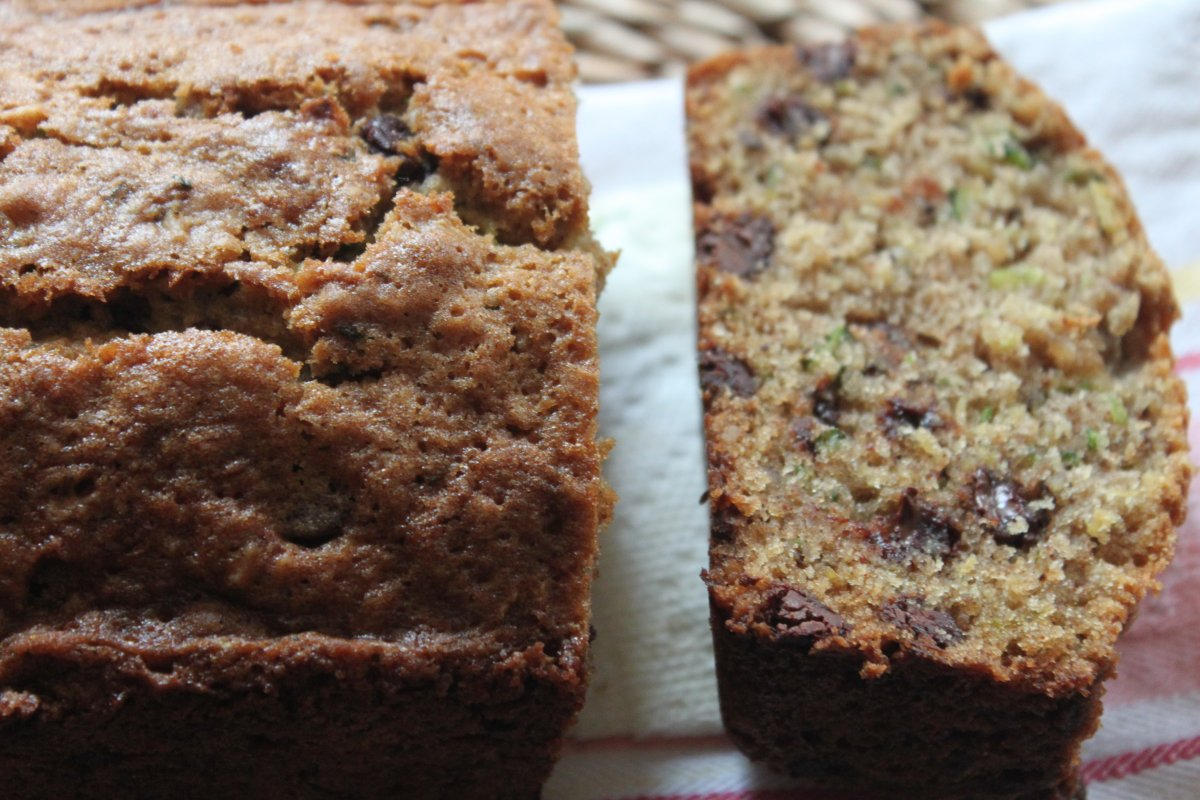Zucchini Bread with Walnuts and Chocolate Chips - Baker by Nature