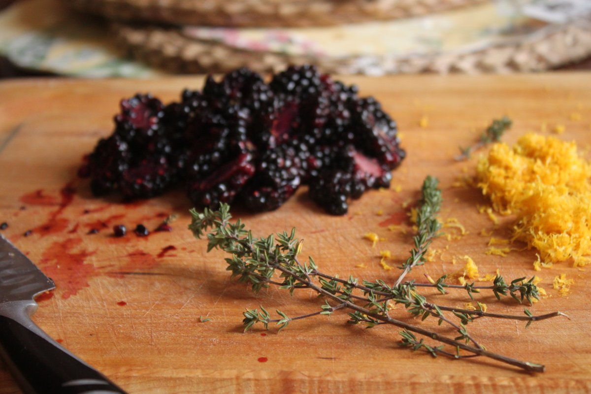 Blackberry, Lemon, and Thyme Muffins - Baker by Nature