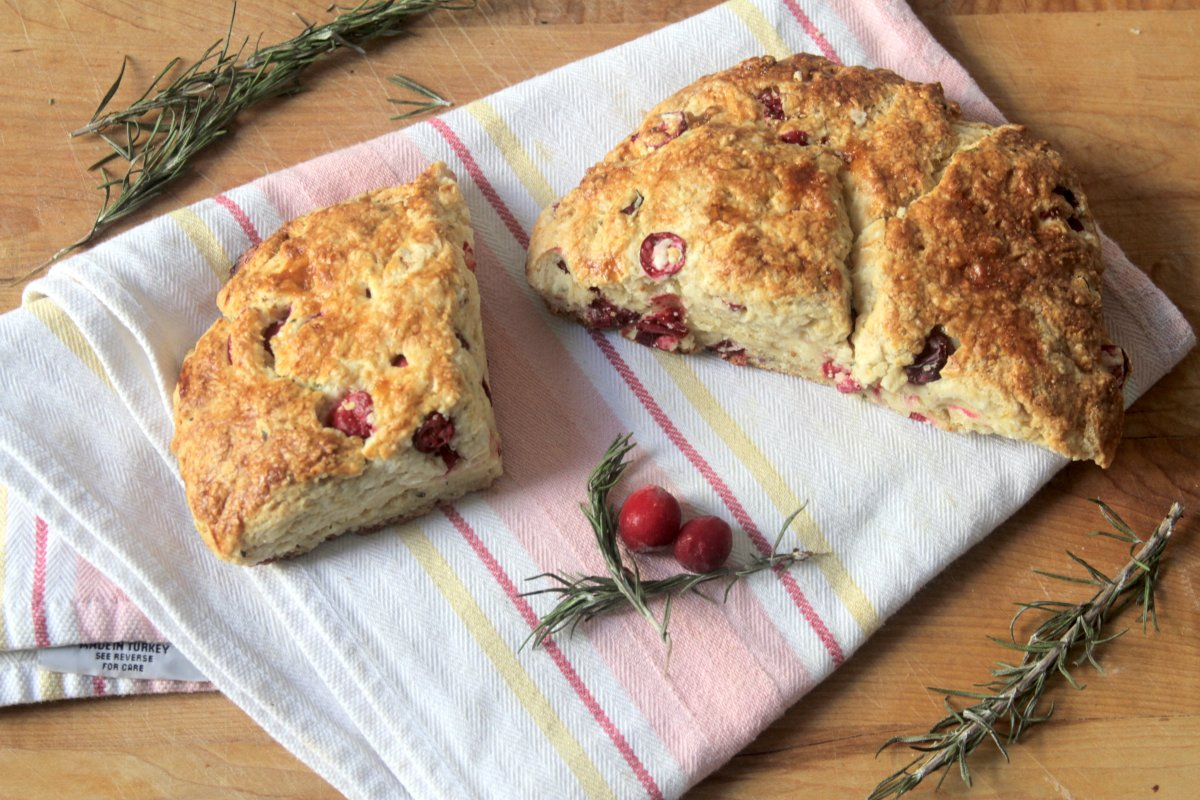 Browned Butter Cranberry, Lemon, and Rosemary Soda Bread - Baker by ...
