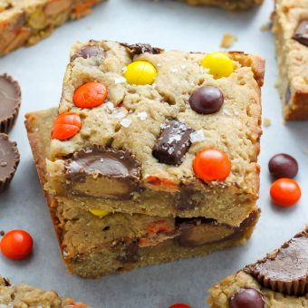 Loaded Peanut Butter Cookie Bars