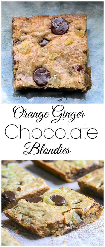 Orange Ginger Chocolate Blondies