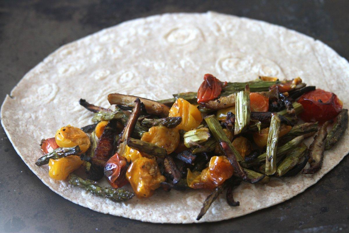 Roasted Asparagus, Mushroom, and Tomato Quesadilla - Baker ...