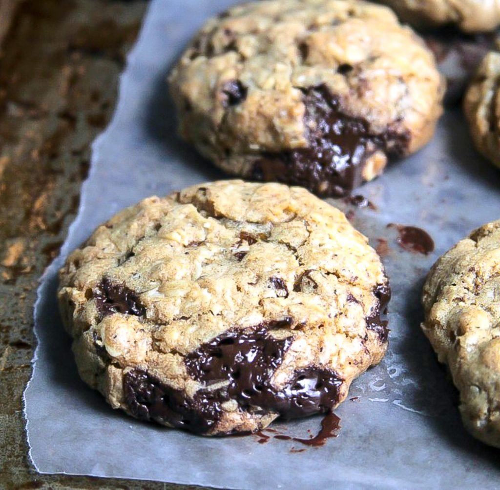 ... Oatmeal Molasses Cookies with Golden Raisins and Dark Chocolate Chunks