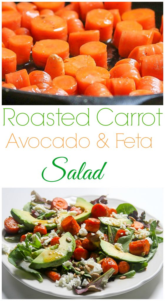 Roasted Carrot and Avocado Salad with Sherry - Dijon Vinaigrette