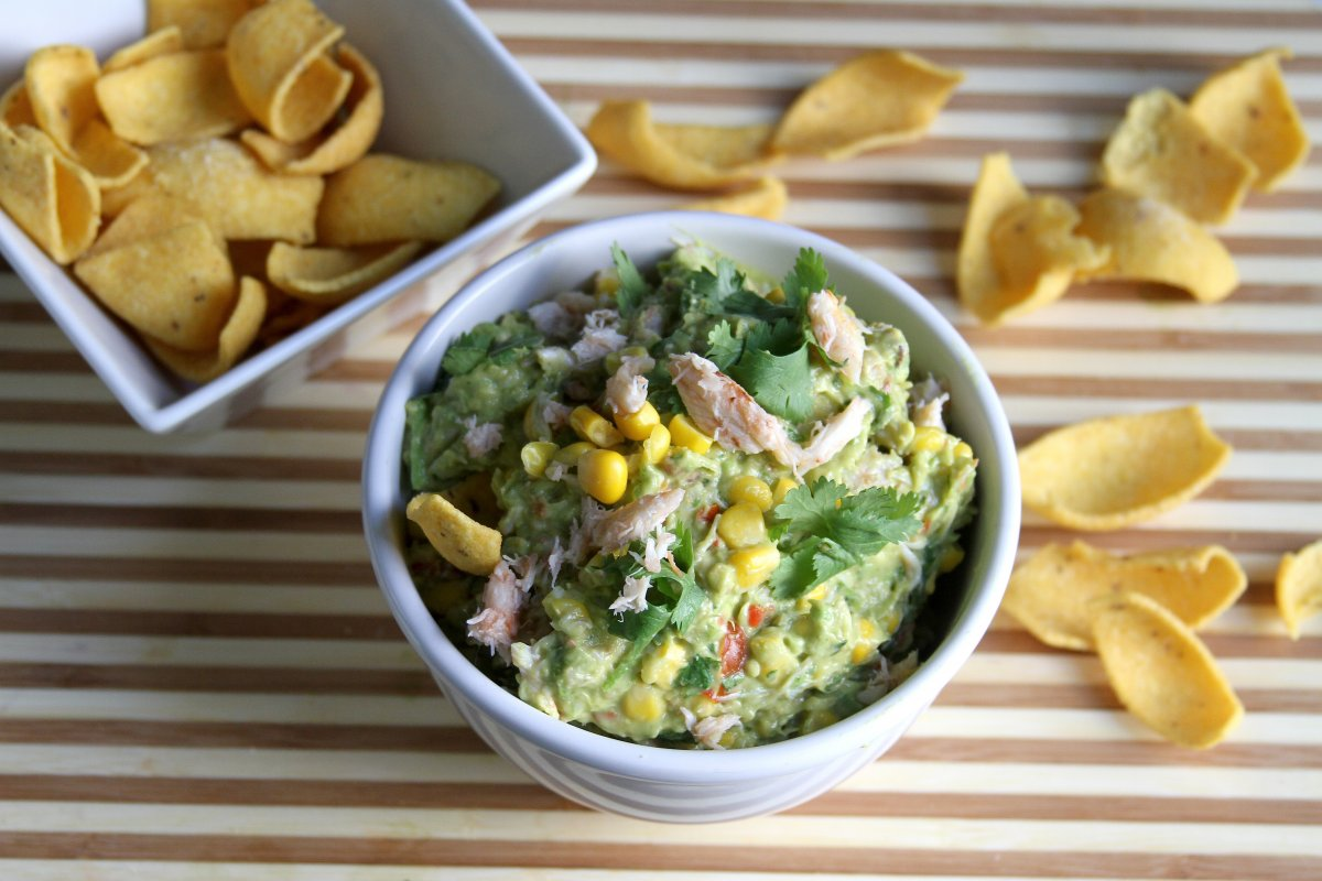 Spicy Crab and Corn Guacamole - Baker by Nature