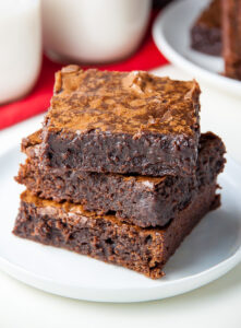 Inspired by Mexican Chili Hot Chocolate, these Spicy Dark Chocolate Brownies are rich, flavorful, and undeniably delicious!
