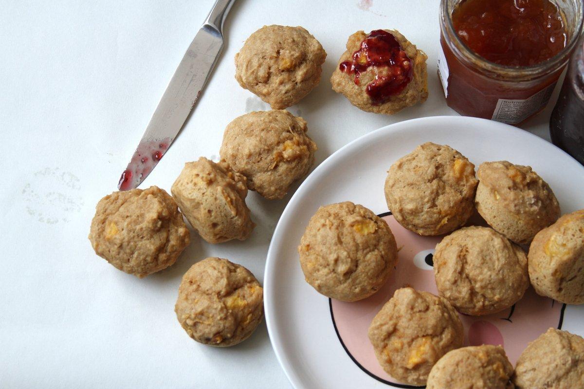 (Vegan & Whole Wheat) Maple-Ginger Peach Mini Muffins ...