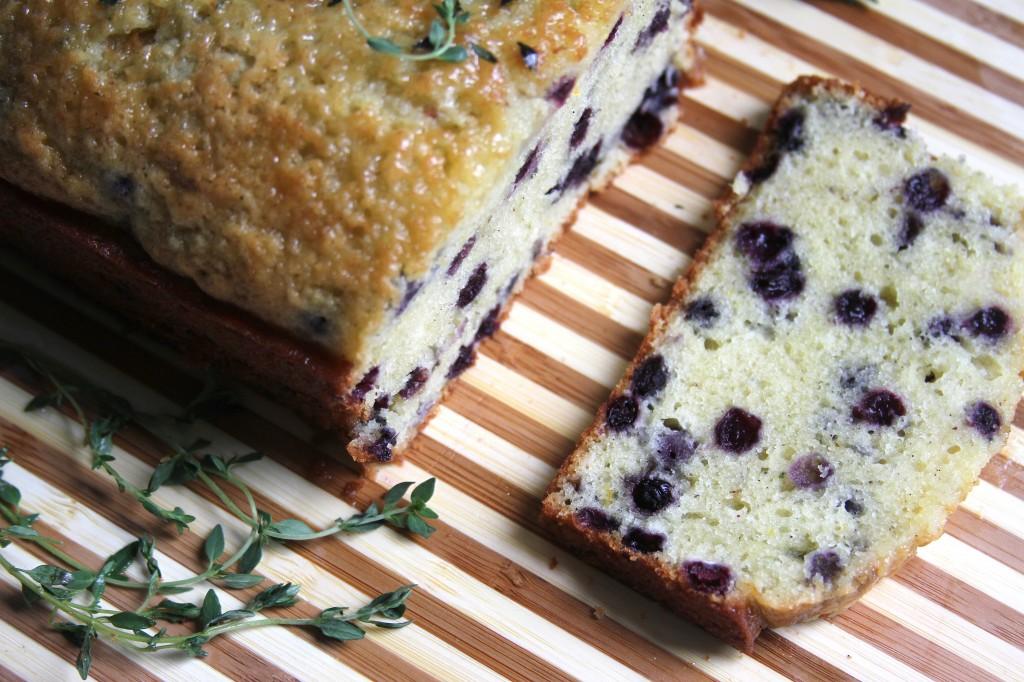 Lemon Blueberry & Thyme Pound Cake
