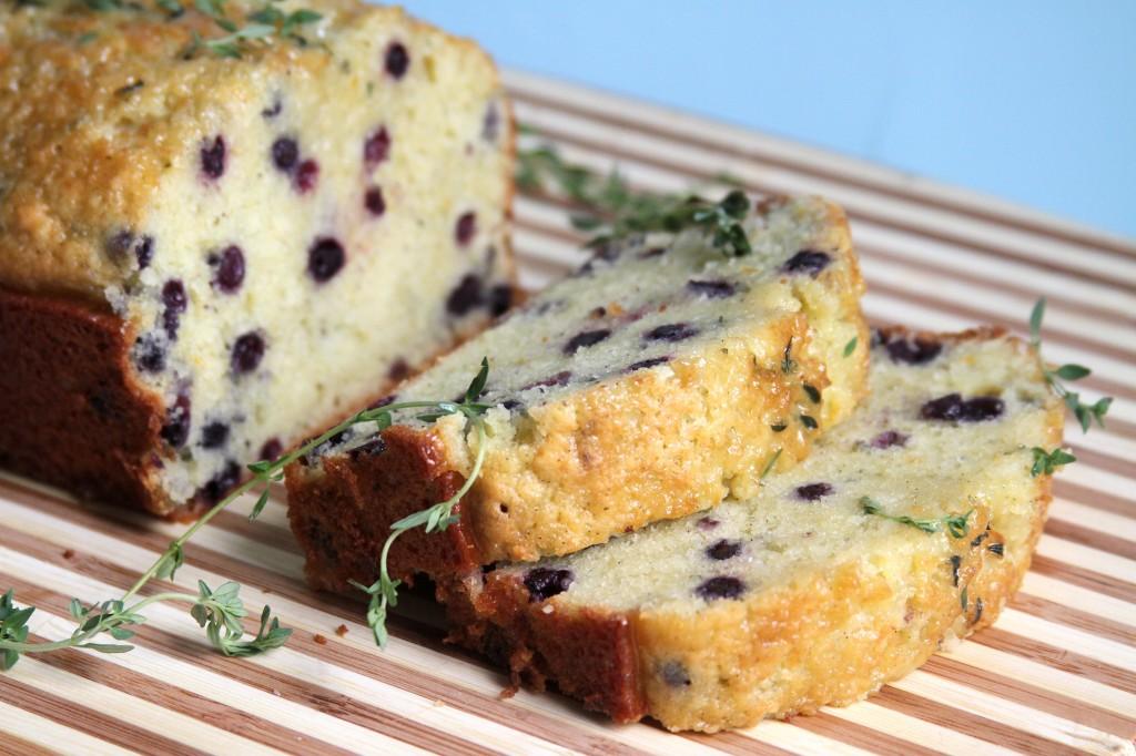 Lemon Blueberry & Thyme Olive Oil Pound Cake