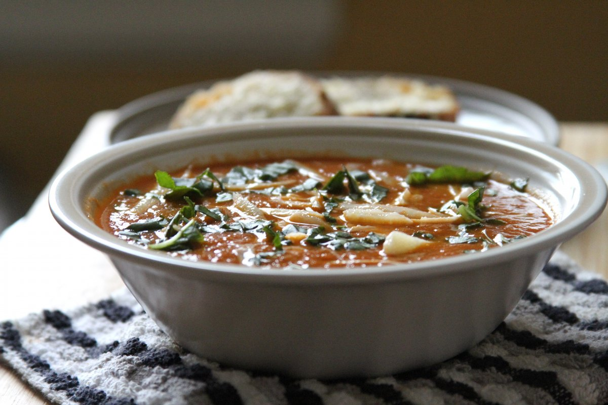 Tomato soup also freezes really well! I packed half our batch into a ...