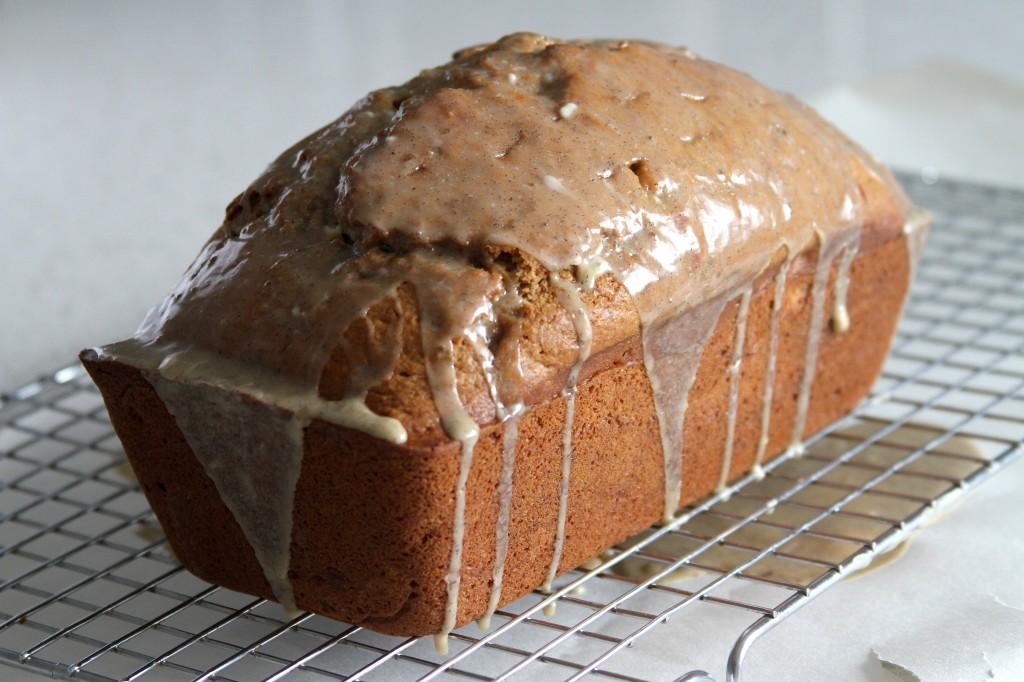 Sneaky Banan Bread with Vanilla Bean - Bourbon Glaze