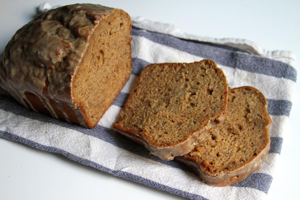 Sneaky Banana Bread with Vanilla Bean - Bourbon Glaze