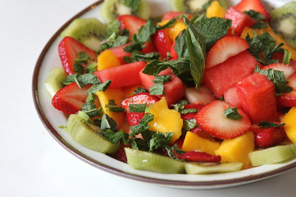 "Grown Up"" Fruit Salad with Honey-Lime Bourbon Dressing – Baker ..."