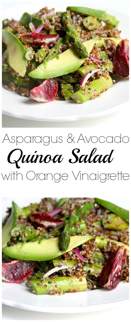 Asparagus, Avocado, and Orange Quinoa Salad with Sesame - Mint Vinaigrette