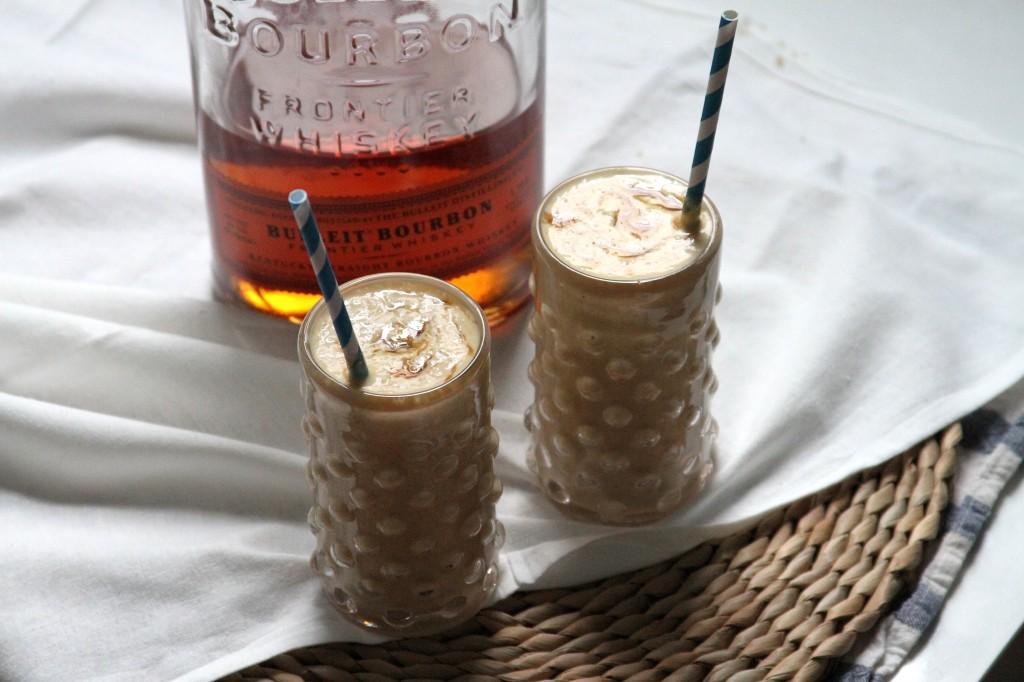 Burnt Peach and Bourbon Milkshakes