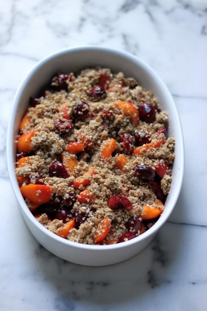 Healthy(ish) Cherry // Apricot Crumble