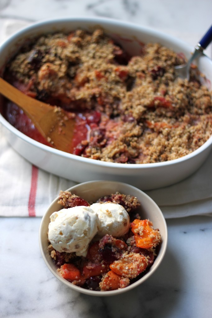Healthy(ish) Cherry // Apricot Crumble