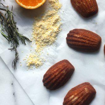 Rosemary, Orange, & Honey Cornmeal Madeleines