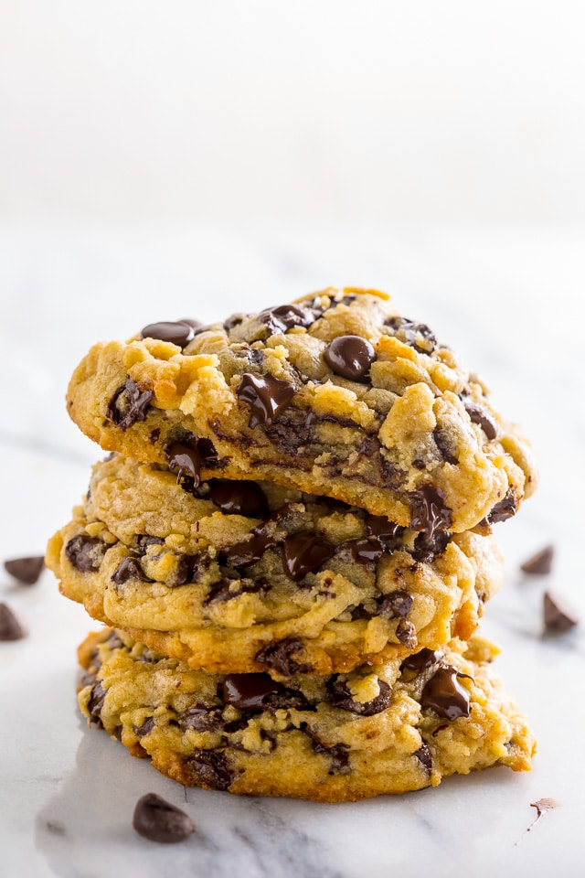 The BEST Chocolate Chip Cookies ever! So thick and chewy.