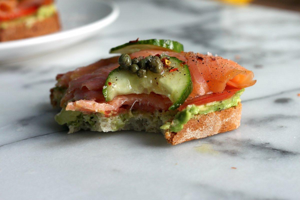... the mix, make some minus the salmon for a fun twist on avocado toast