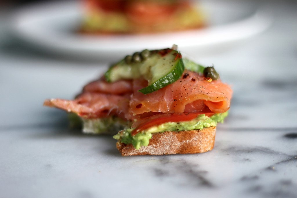 Smoked Salmon & Smashed Avocado Tartines
