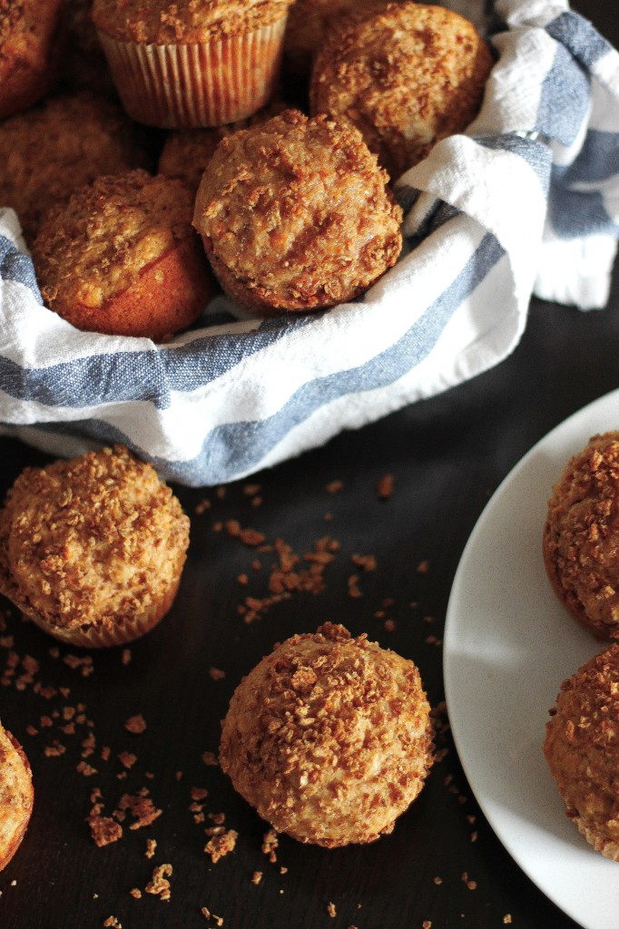 Brown Butter Sweet Potato Granola Muffins