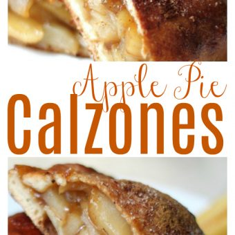 Apple Pie Calzones taste like apple pie, but without all of the work! Dough and filling can both be made in advance, making this an easy dessert! So good with vanilla ice cream!