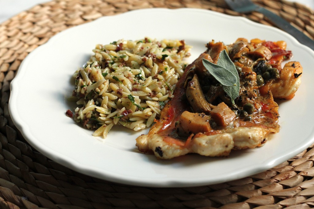 Chicken Saltimbocca with Creamy Lemon Sauce & Olive Orzo – Baker by ...