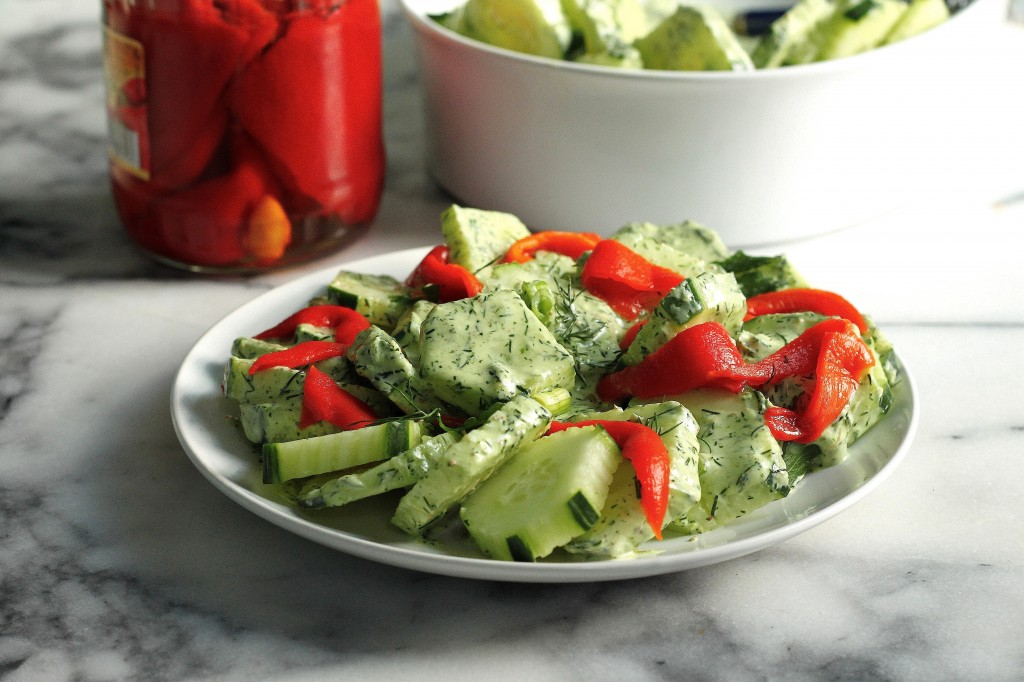 Cucumber Salad with Creamy Dill Dressing