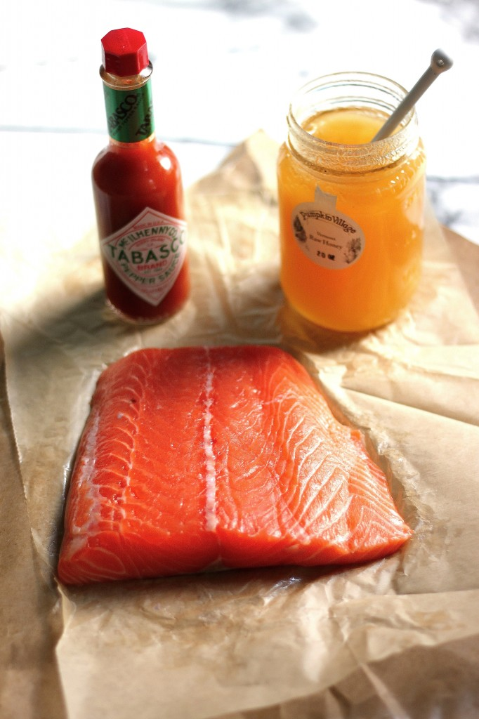 20 Minute Tabasco & Honey Roasted Salmon