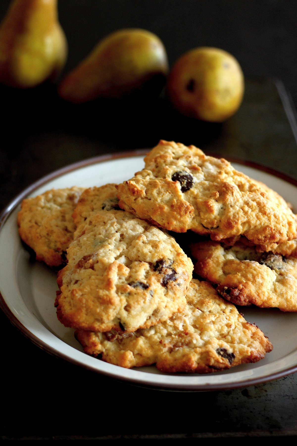 Roasted Pear, Granola, and Ginger Chocolate Chip Scones – Baker by ...
