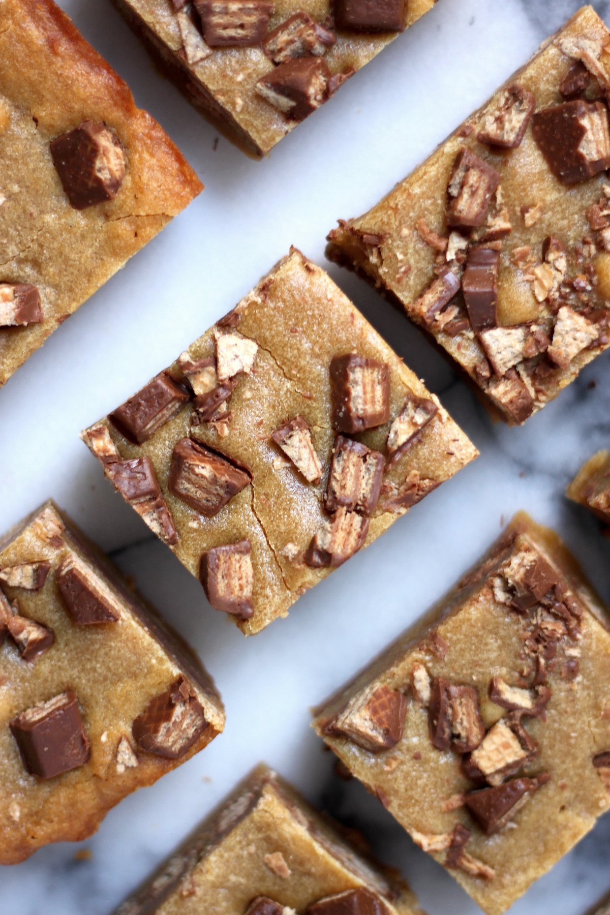 Malted Kit Kat Blondies with Malted Chocolate Drizzle - Baker by ...