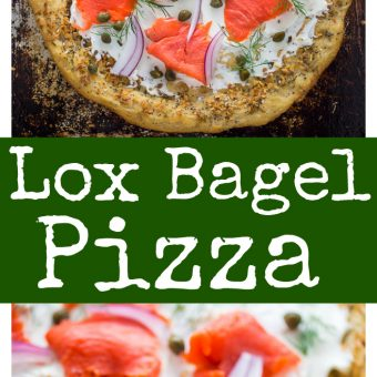 This Loaded Everything Bagel & Lox Pizza is brunch perfection!