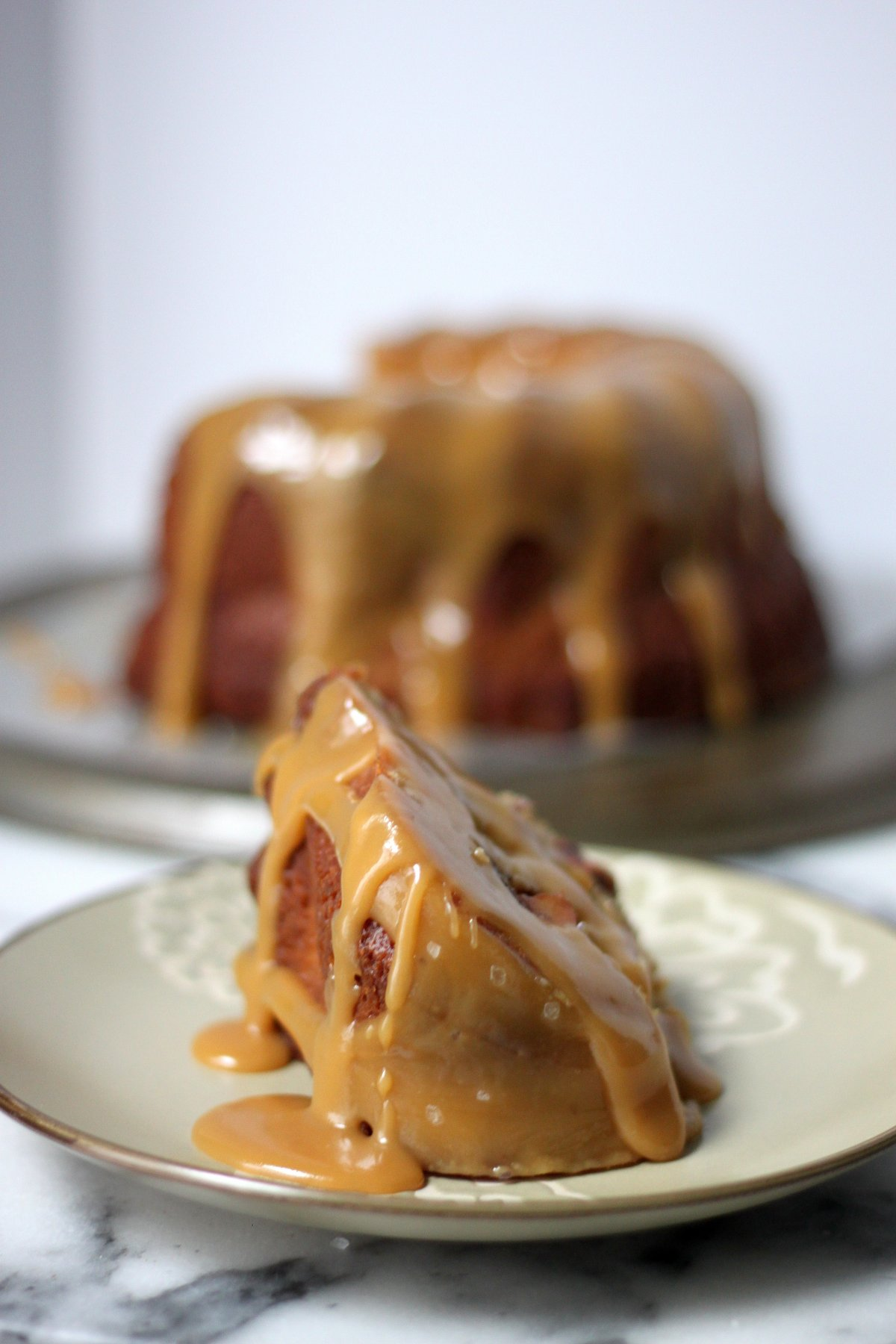 Brown Butter Apple Bundt Cake with Bourbon Butterscotch ...