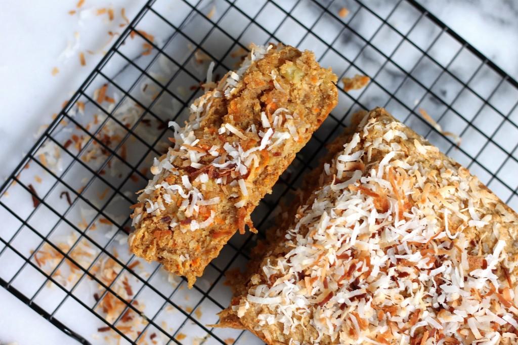 (Vegan) Tropical Carrot Coconut Snack Cake