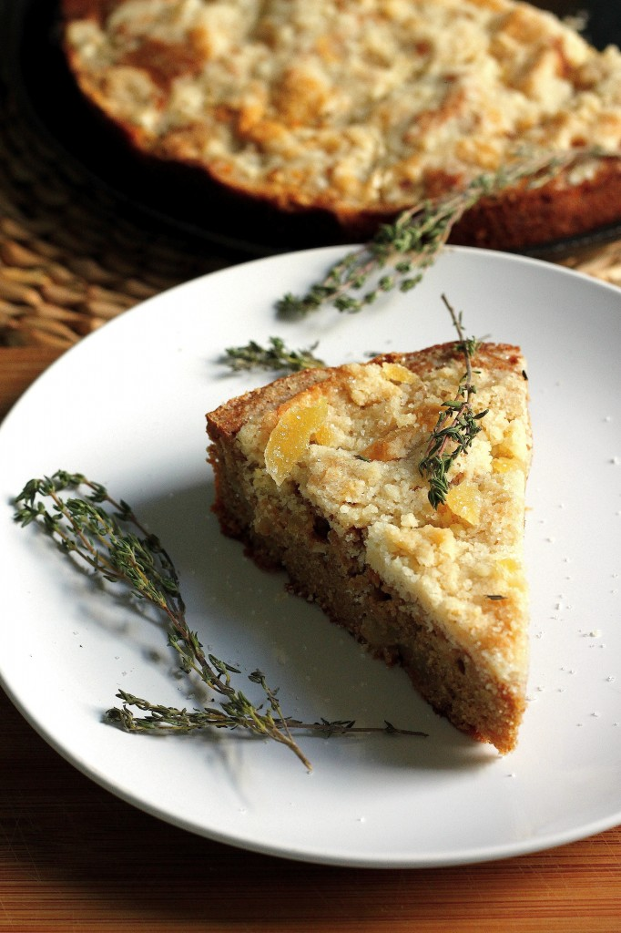 Whole Wheat Pear, Ginger, and Thyme Buckle