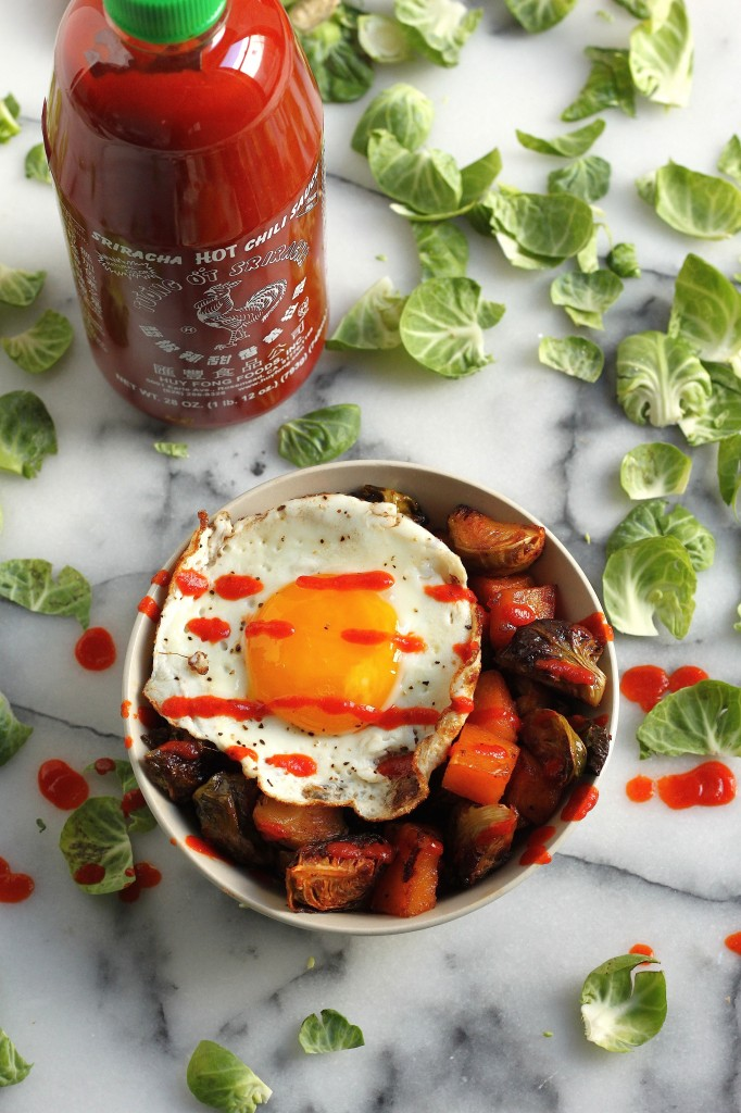 Sriracha & Maple Roasted Brussels & Butternut Squash