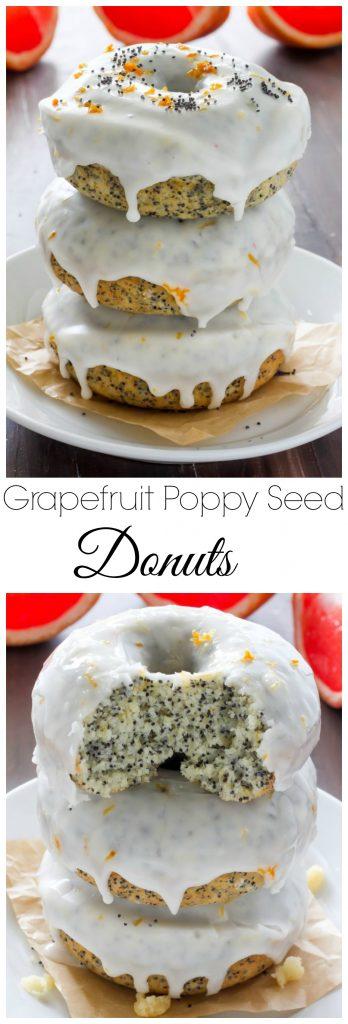 Baked Grapefruit Poppy Seed Doughnuts