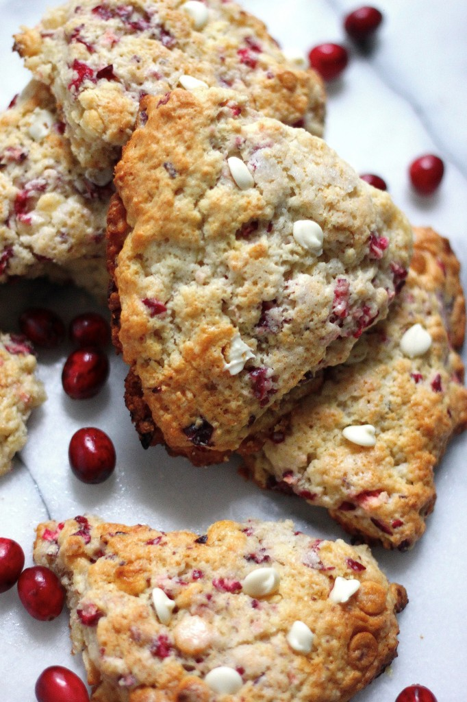 White Chocolate Cranberry Scones