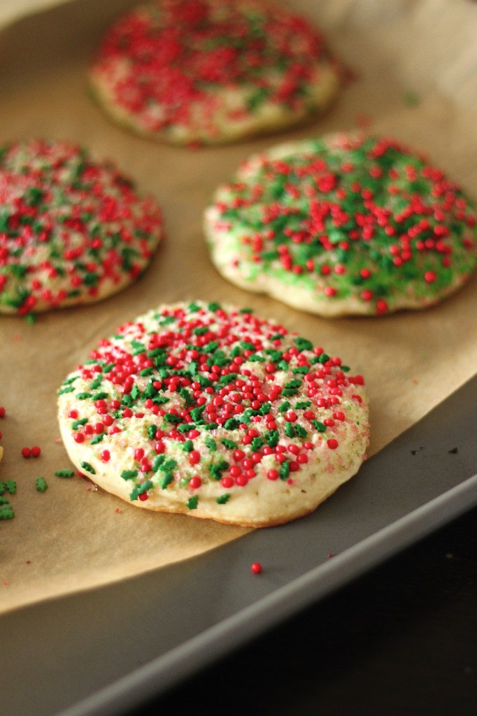 Holiday Confetti Cheesecake Cookies