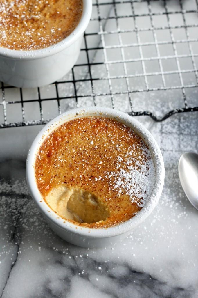 (5-Ingredient) Baked Eggnog Custard