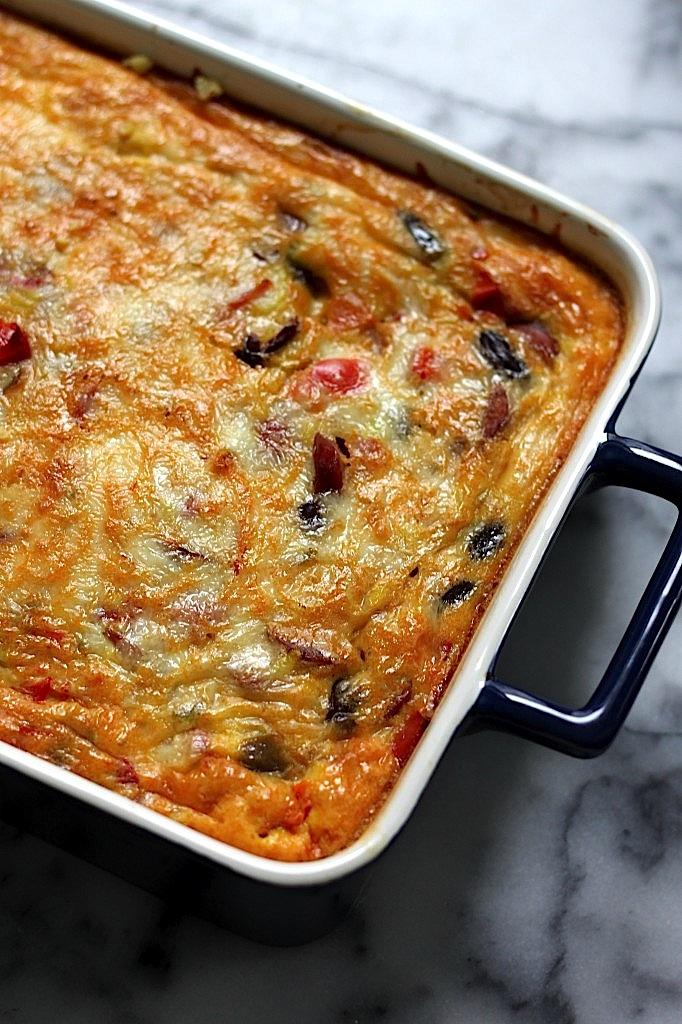 Andouille Sausage Breakfast Burrito Casserole