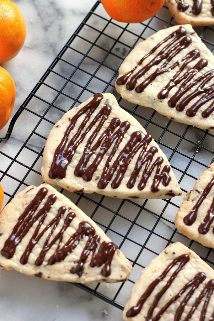 Chocolate Chunk Clementine Shortbread